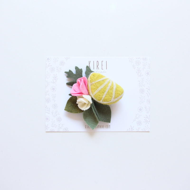 Lemon headband/ hair clip