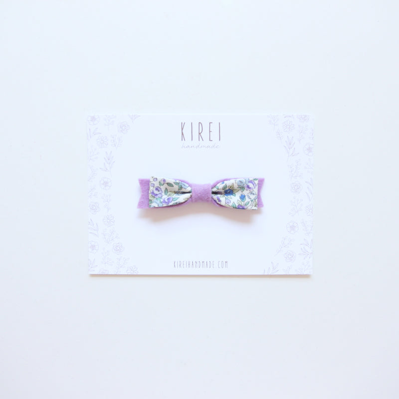 Floral bow headband - wisteria