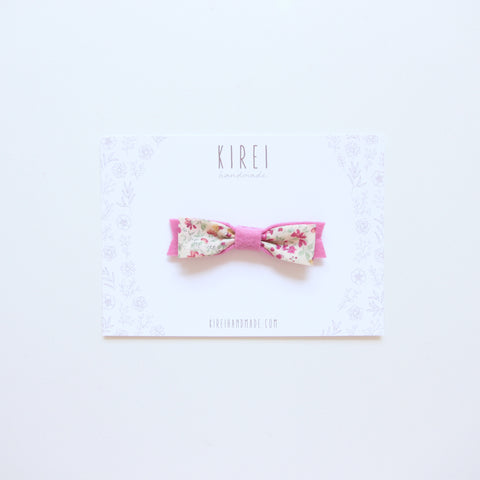 Floral bow headband - buttercup