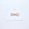 Floral bow headband - blush