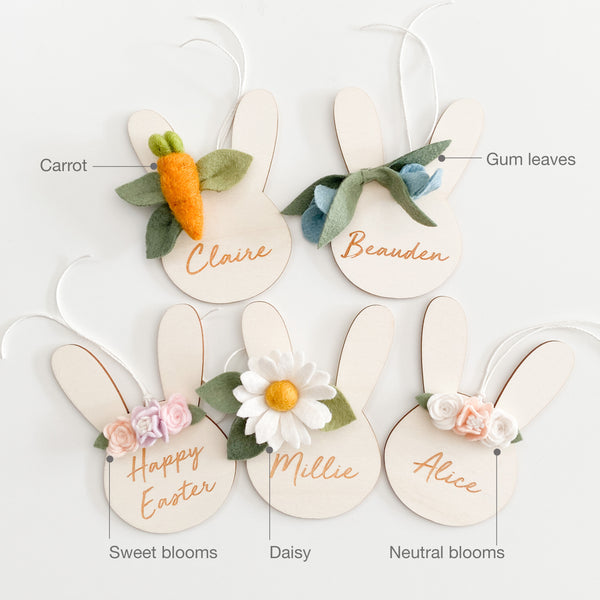 Personalised Bunny Tag - multiple designs to choose from