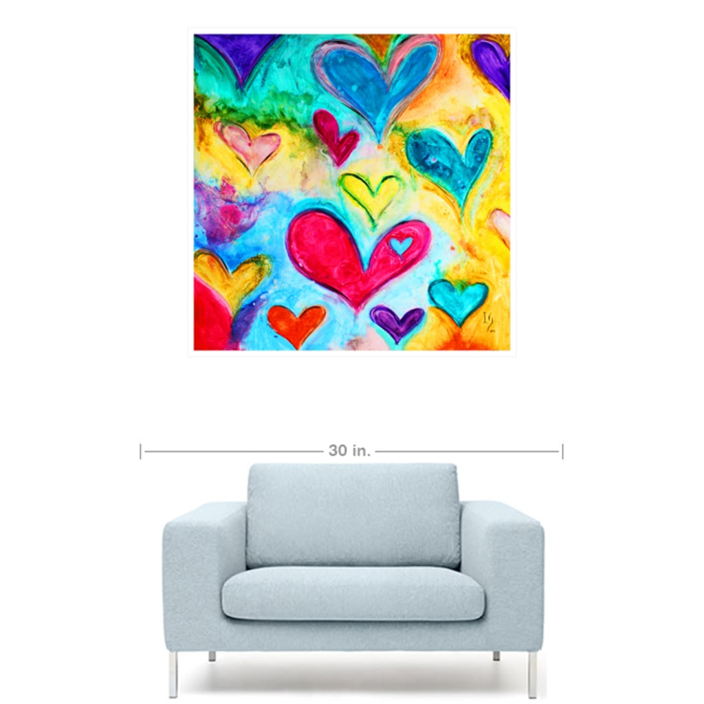 "Love Sweet Love-Premium Canvas Gallery Prints-CG Pro Prints-24""x24""x1.25"" Walnut Framed Canvas Gallery Wrap-Ivan Guaderrama Wholesale"