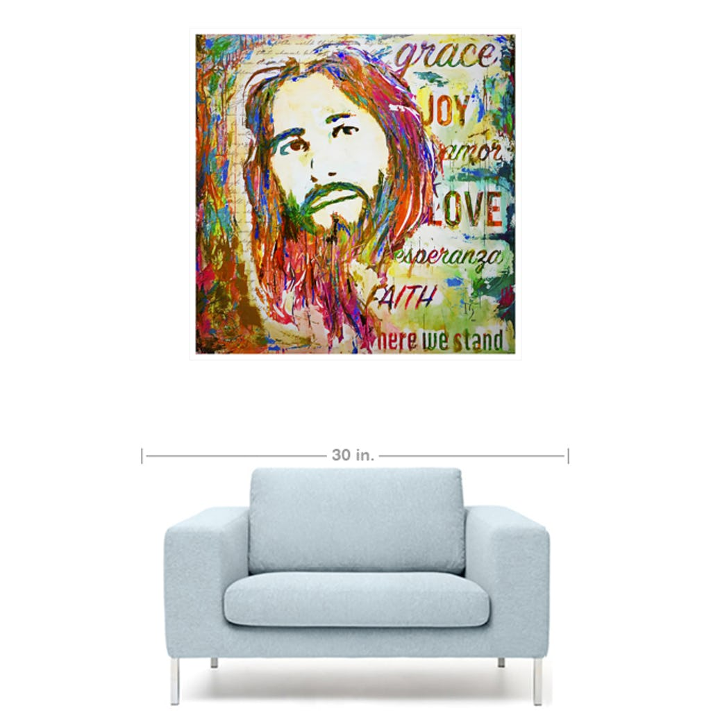 "Amazing Grace-Premium Canvas Gallery Prints-CG Pro Prints-24""x24""x1.25"" Walnut Framed Canvas Gallery Wrap-Ivan Guaderrama Wholesale"