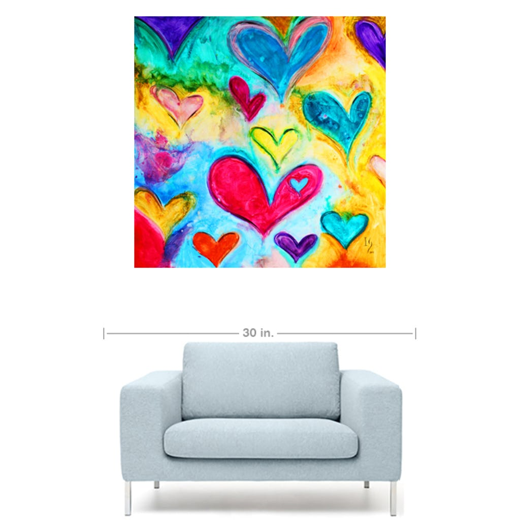 "Love Sweet Love-Premium Canvas Gallery Prints-CG Pro Prints-24""x24""x1.25"" Premium Canvas Gallery Wrap-Ivan Guaderrama Wholesale"