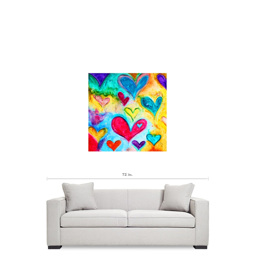 "Love Sweet Love-Premium Canvas Gallery Prints-CG Pro Prints-36""x36""x1.25"" Walnut Framed Canvas Gallery Wrap-Ivan Guaderrama Wholesale"