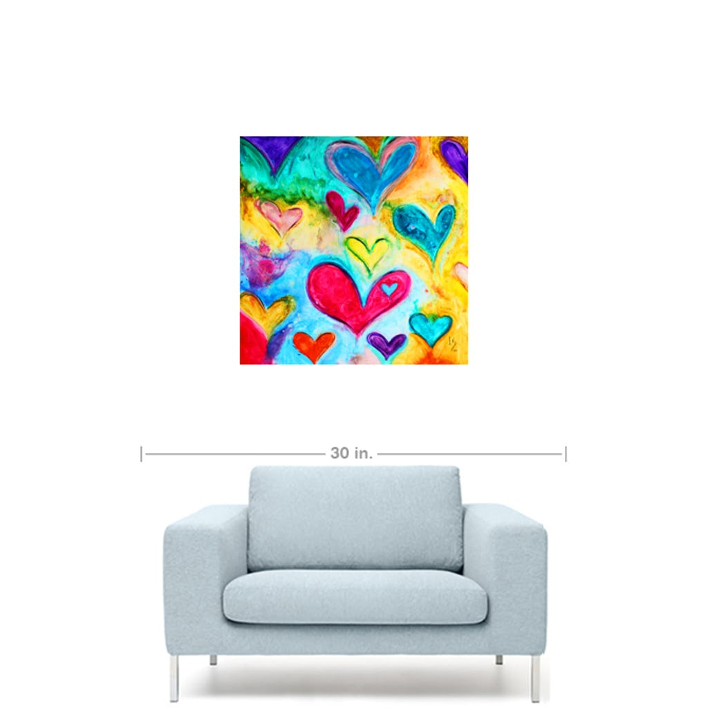 "Love Sweet Love-Premium Canvas Gallery Prints-CG Pro Prints-16""x16""x1.25"" Premium Canvas Gallery Wrap-Ivan Guaderrama Wholesale"