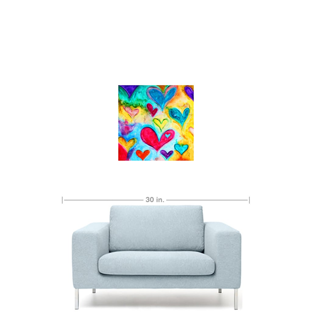 "Love Sweet Love-Premium Canvas Gallery Prints-CG Pro Prints-12""x12""x1.25"" Premium Canvas Gallery Wrap-Ivan Guaderrama Wholesale"