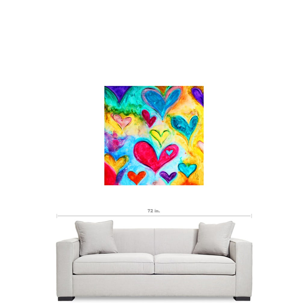 "Love Sweet Love-Premium Canvas Gallery Prints-CG Pro Prints-36""x36""x1.25"" Premium Canvas Gallery Wrap-Ivan Guaderrama Wholesale"