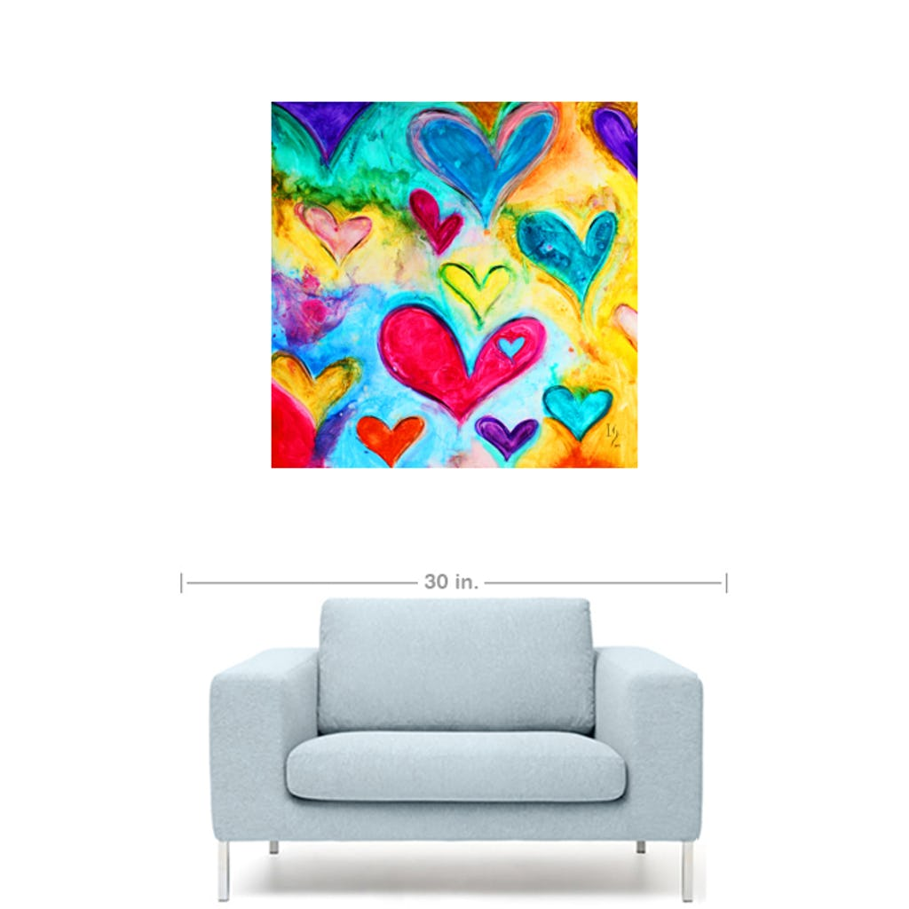 "Love Sweet Love-Premium Canvas Gallery Prints-CG Pro Prints-20""x20""x1.25"" Premium Canvas Gallery Wrap-Ivan Guaderrama Wholesale"
