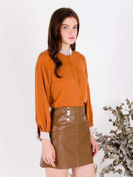 Sunset Orange Glow Shirt Blouse