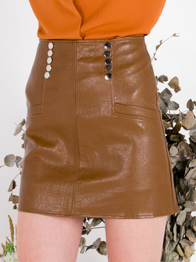 Vegan Leather Biker Skirt