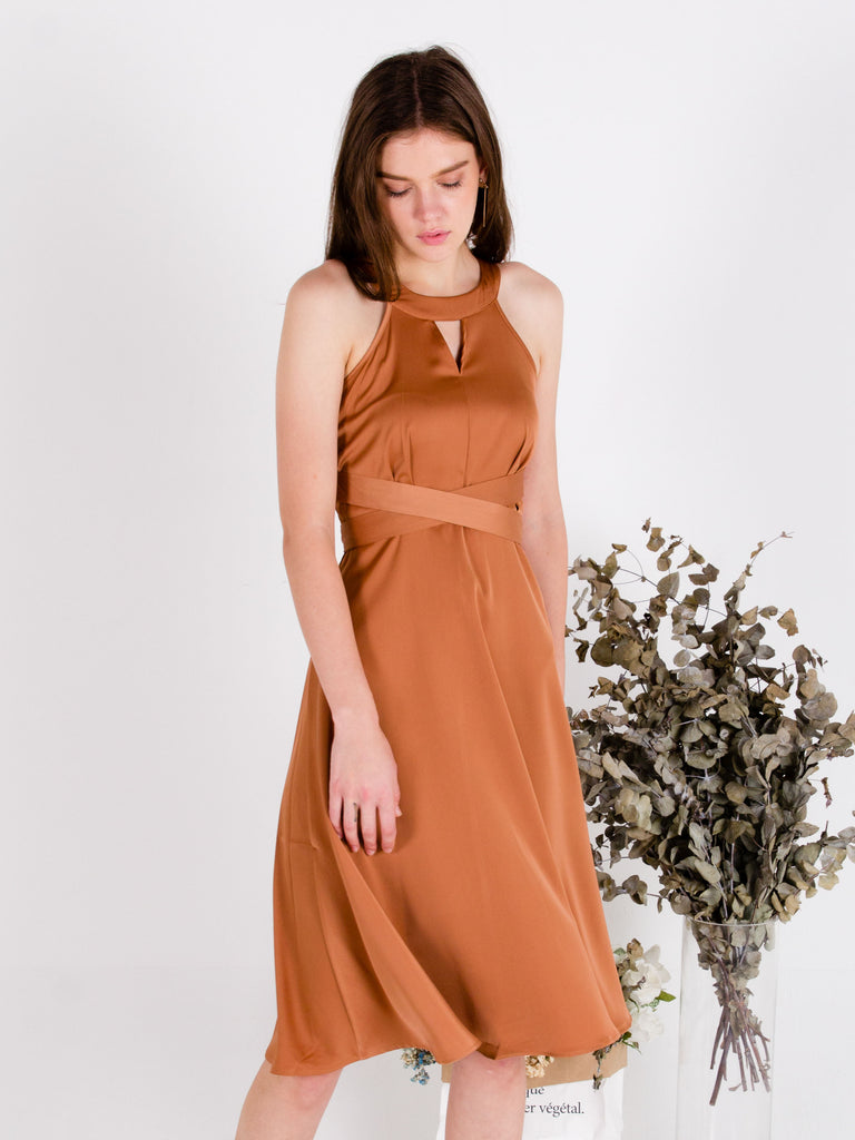 Ready, Set, Glow! Satin dress