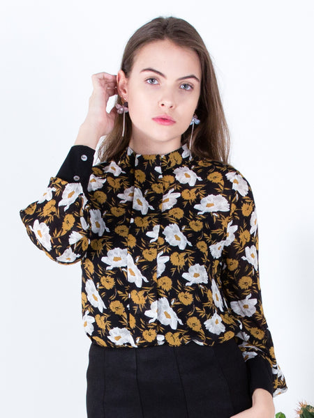 Gothic Peonies Blouse