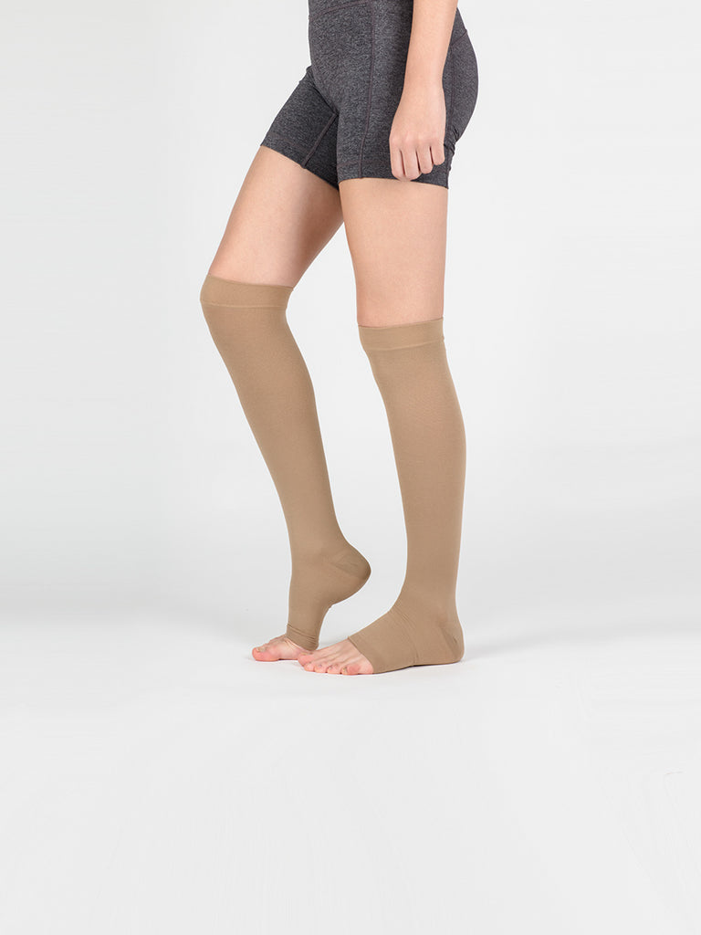 Knee High Compression Socks (Open Toe)