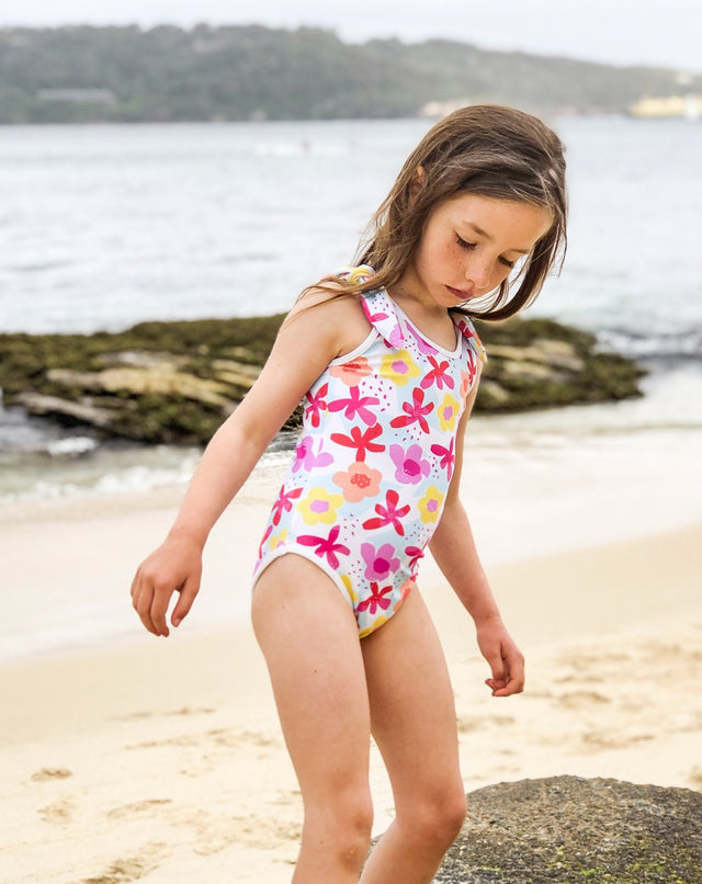 Seaflower Tie Swimsuits