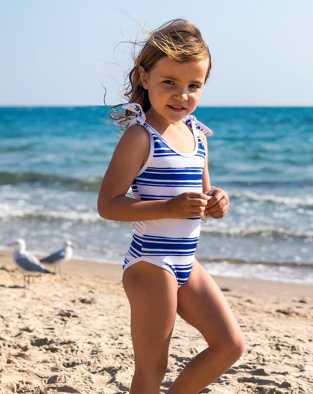 Seastripe Tie Swimsuits