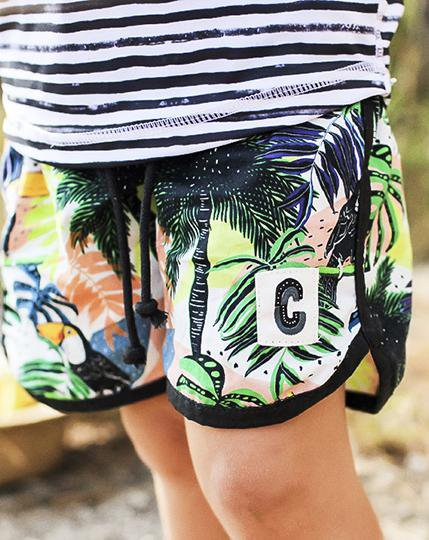 Toucan-can Organic Cotton Beach Shorts