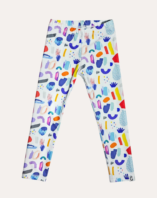 White Jungle Mix Wanderpants