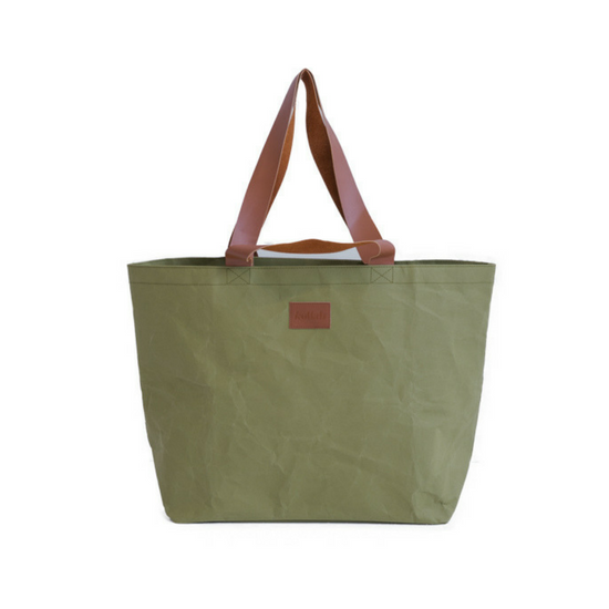Kollab - Paper Shopper Tote - Olive