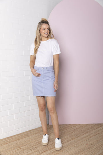 Bande Studio - Denim Skirt - Iris Blue