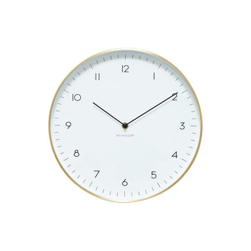 Milk & Sugar - Maple Clock Gold 30cm