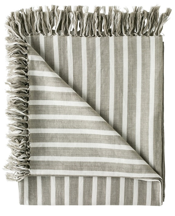 Eadie Lifestyle - Cortier Throw 180x150xm - Natural/White Stripe