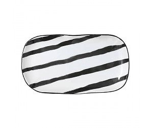 HK Living - Porcelain Serving Tray - Stripes