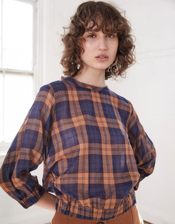 Apartment Clothing - Check Full Sleeve Blouse