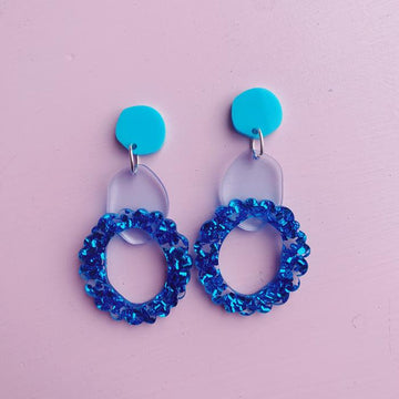 Emeldo - Rita Earrings - Ocean