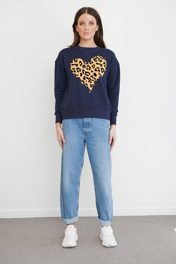 Bande Studio - Heart Sweat - Navy