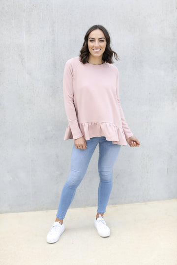 Leoni - Maddy Frill Top - Blush