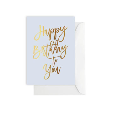 Elm Paper - Happy Birthday to You - Blue