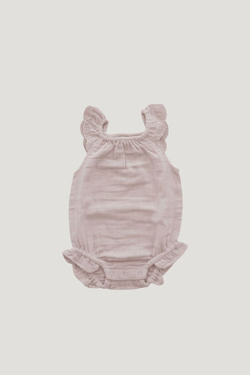 Jamie Kay - Organic Cotton Muslin Lace Playsuit - Candy Floss