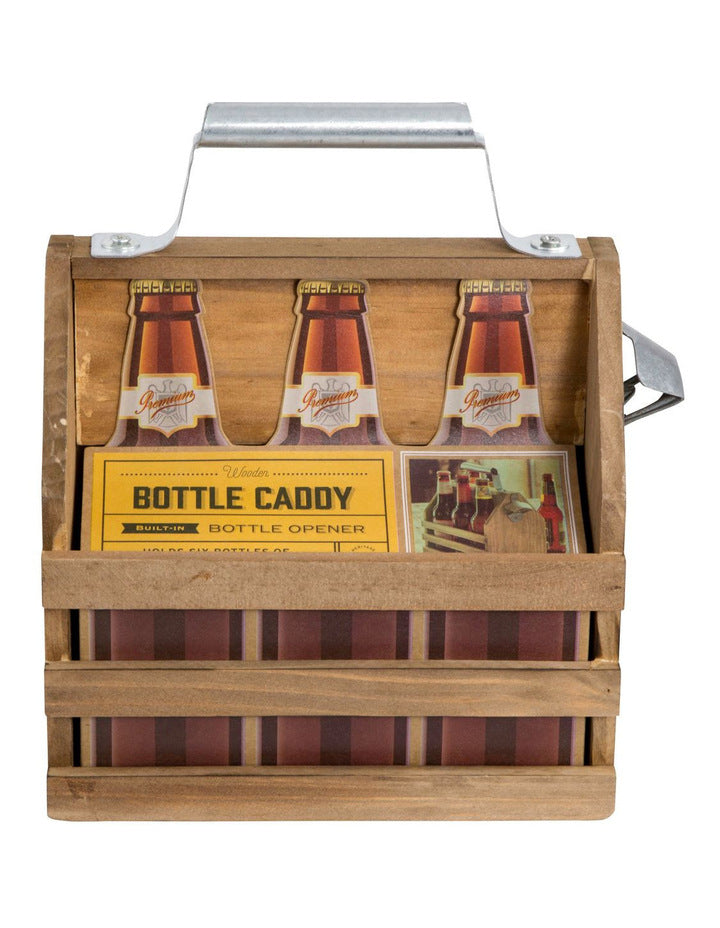 Refinery & Co - Bottle Caddy Wood With Opener