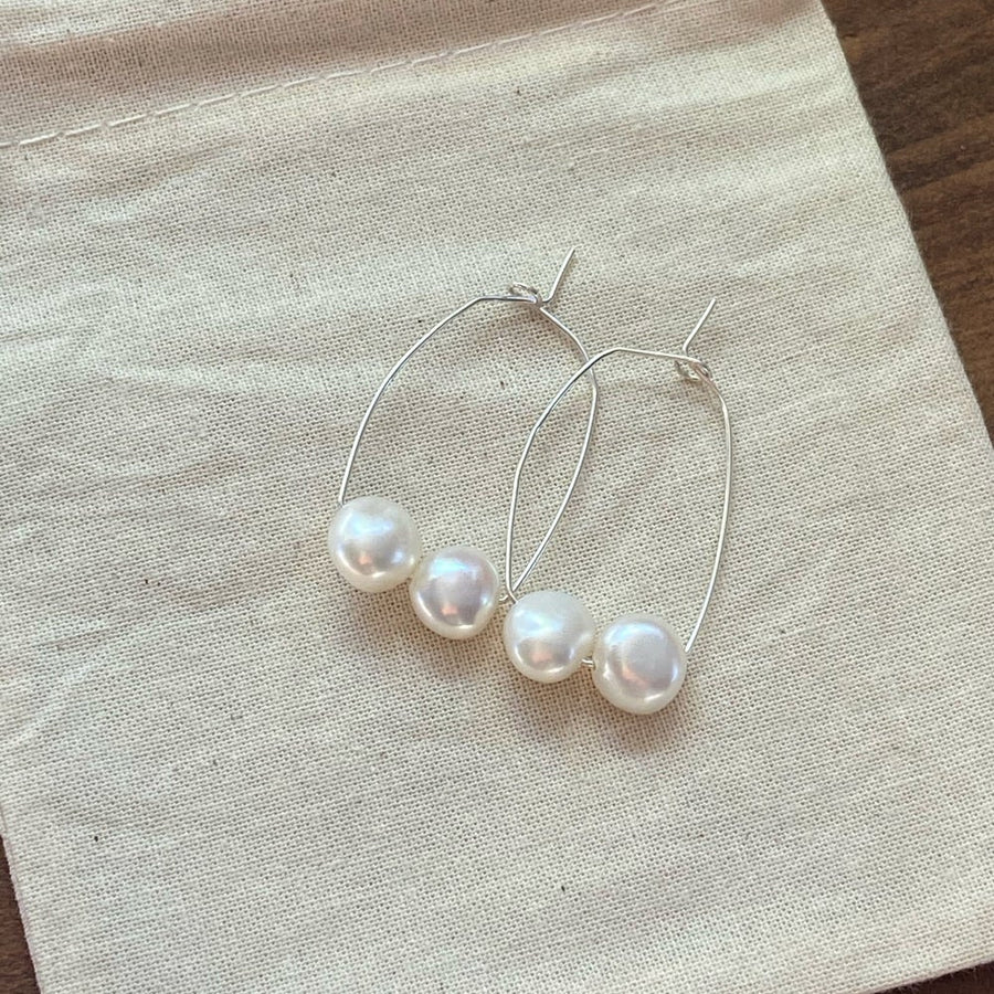Pop Design - Fresh Water Pearl Earring - Savannah