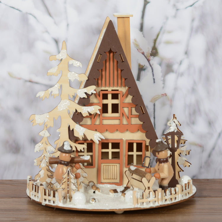 Habitat 101 - LED Wooden Village Chalet