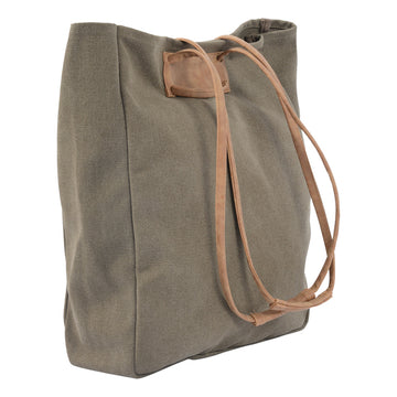Habitat 101 - Emmi Canvas Tote Bag Olive/Tan