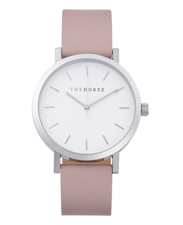 The Horse - The Original: Polished Silver / Blush Leather