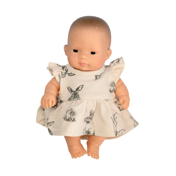 Burrow & Be - Almond Burrowers Dress for 21cm Doll