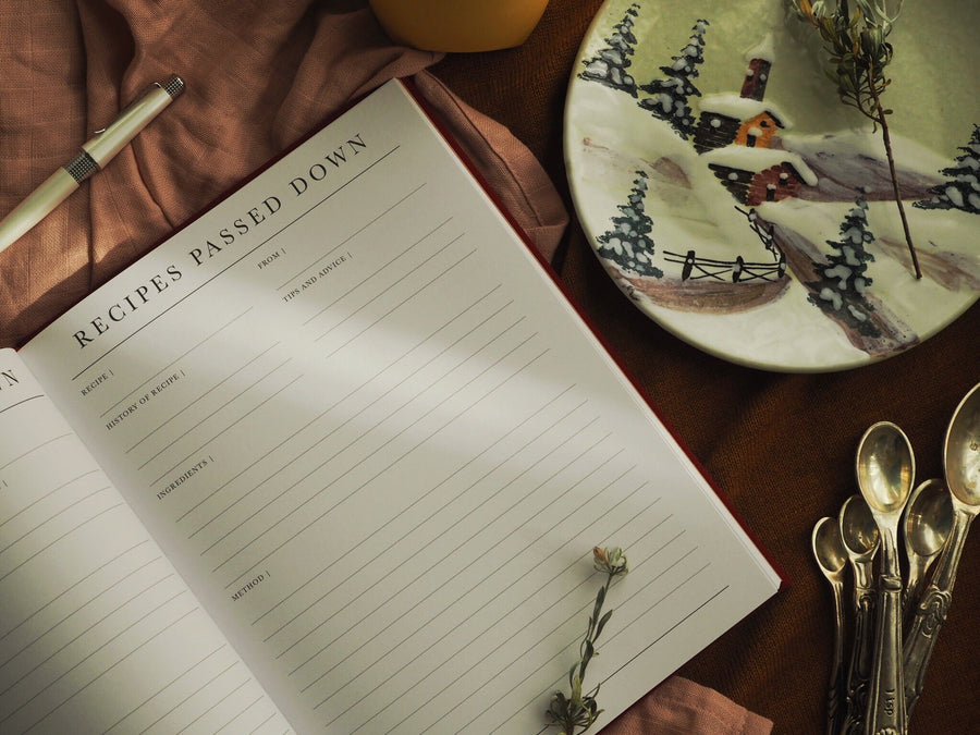 Write to Me - Recipes Passed Down - Grey