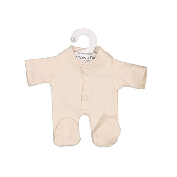 Burrow & Be - Almond Sleep Suit for 21cm Doll