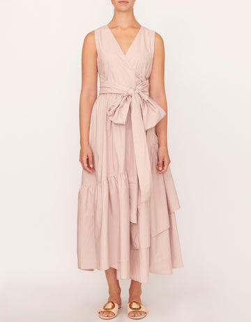 Apartment Clothing - Parker Topstitch Wrap Dress - Pink