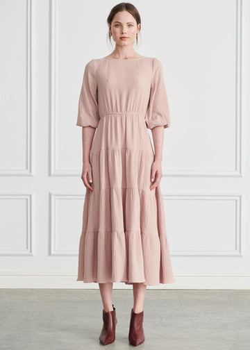 Apartment - Liza Tiered Maxi Dress - Pink