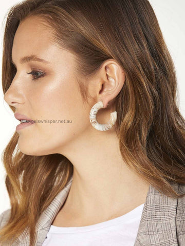 Angels Whisper - Meadow Acrylic Small Hoop Earrings