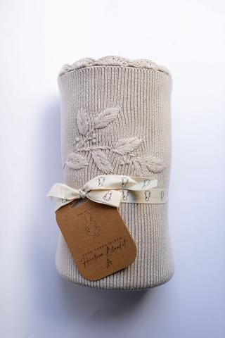 Pop Ya Tot - Heirloom Embroidered Blanket - Eggshell