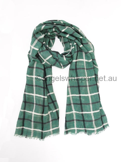Angels Whisper - Finley Checked Scarf - Green