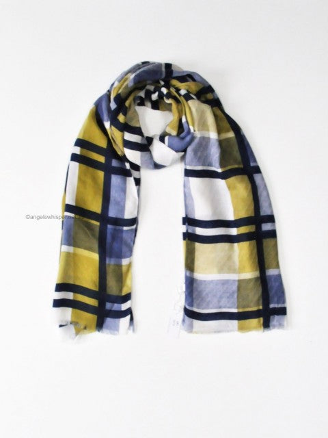 Angels Whisper - Emerson Checked Woven Scarf