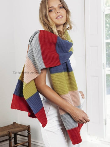 Angels Whisper - Afra Multi - Coloured Knitted Scarf