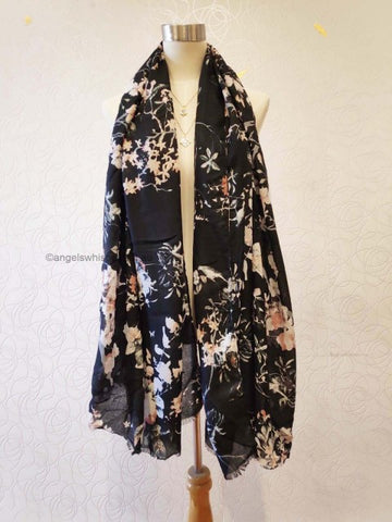Angels Whisper - Yara Floral Print Woven Scarf