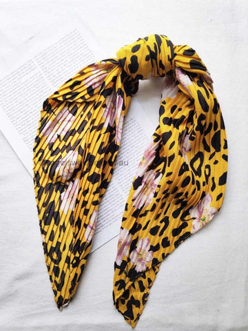 Angels Whisper Lorna Cherry blossom crinkled bandana scarf - yellow